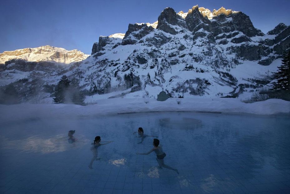Alpentherme im Winter