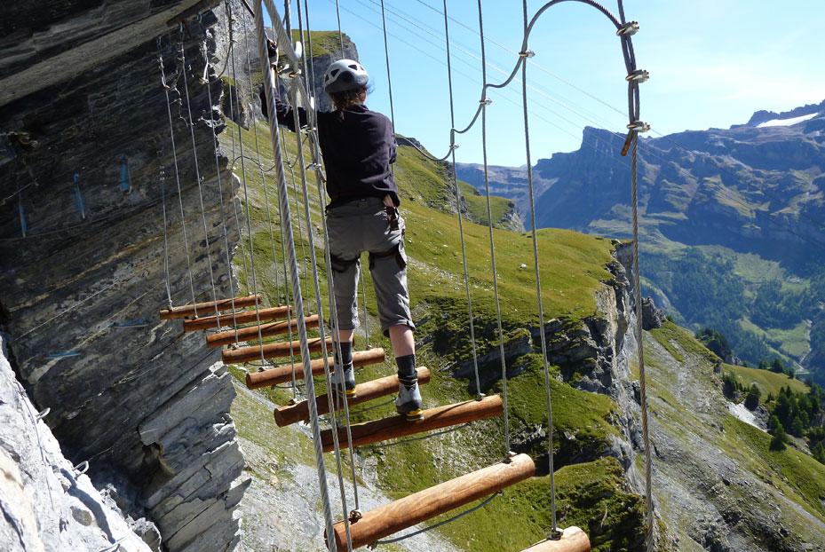 Klettersteig auf der Gemmi