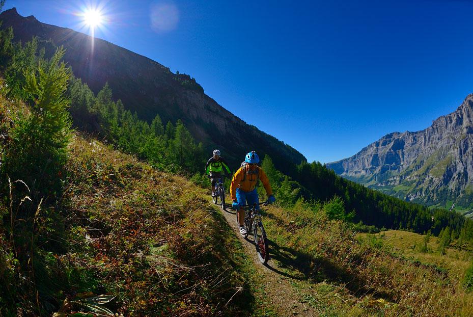 Mountainbiking in Leukerbad