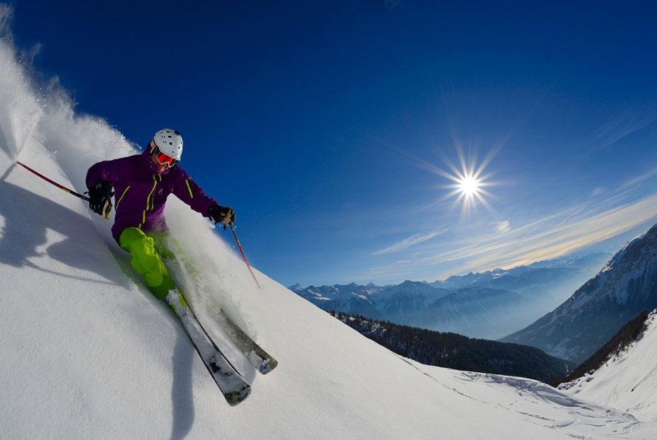 Skifahren auf der Torrent